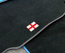 Car mat designed with flag