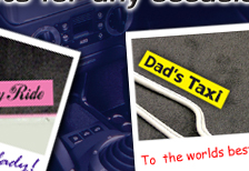 Dad's car mats - gift idea