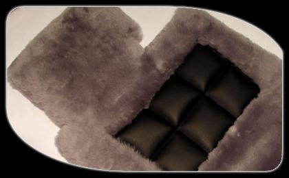 Sheepskin car mats